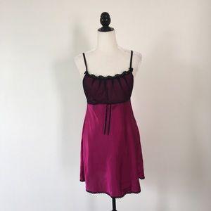 In Bloom Magenta Slip Dress